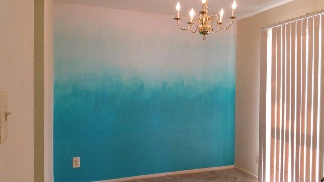 This is an ombre wall I painted in my apartment!