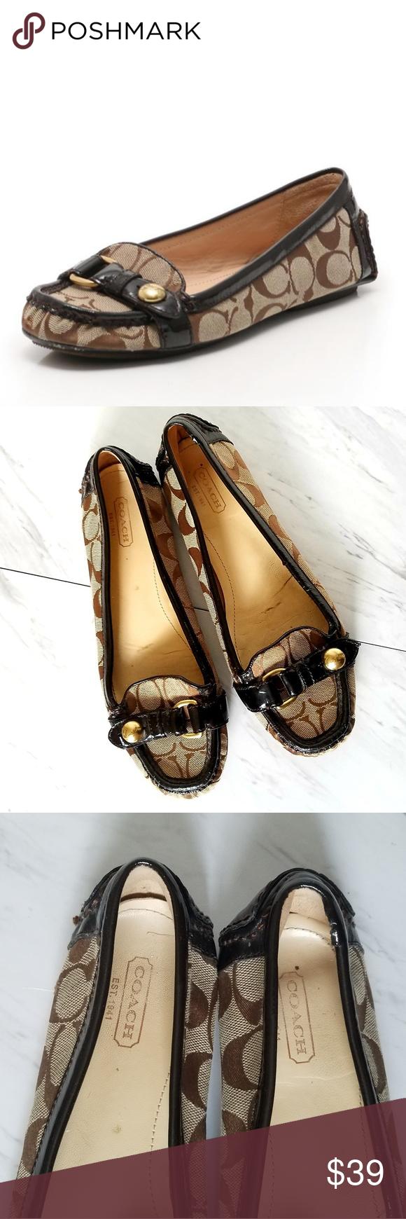 8cfe015a COACH HELLEN signature flat shoes COACH HELLEN signature ...