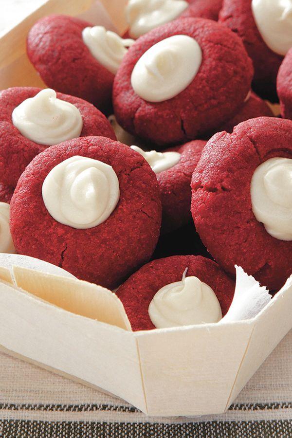 Christmas Desserts Pinterest.Red Velvet Thumbprints