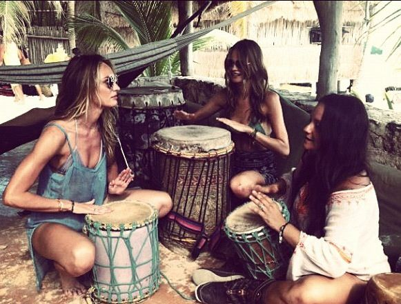 Nice picture of some ladies playing Bongo drums | The ...