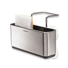 Best Simplehuman® Slim Stainless Steel Sink Organizer Bed 640 x 480