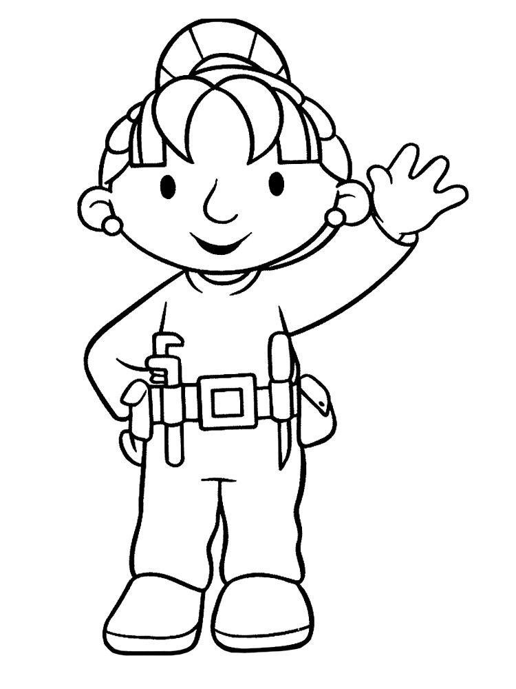 Картинки с Бобом строителем для малышей | Раскраски с ...