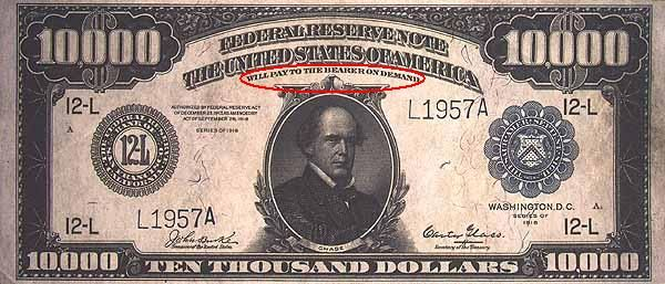 New U S  Currency | Promise to pay the bearer | HitXP by