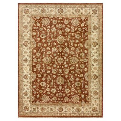 Darby Home Co Durden Hand Knotted Wool Rust Ivory Area Rug Area Rugs Rugs Beige Area Rugs