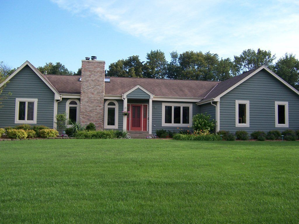 Image Result For Blue Ranch House Exterior House Colors House