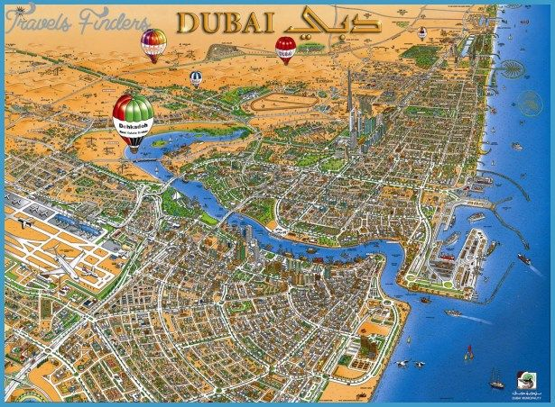 dubai map tourist attractions httptravelsfinderscomdubai map