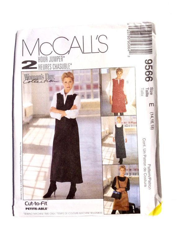 McCall's 9566 Women's Jumper Pattern Size 14 16 by DonnaDesigned