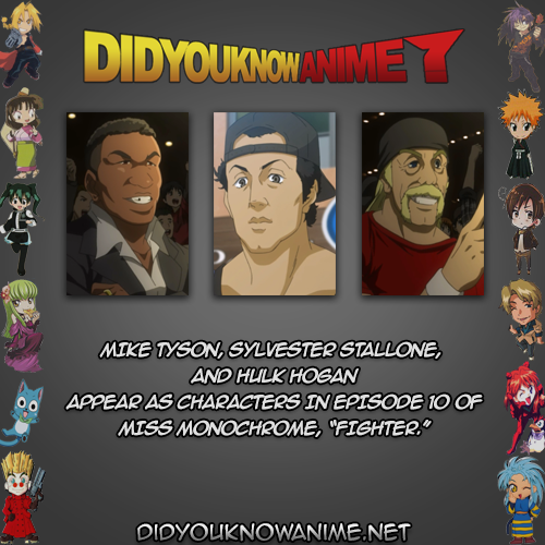 Did You Know Anime Mike Tyson Sylvester Sylvester Stallone