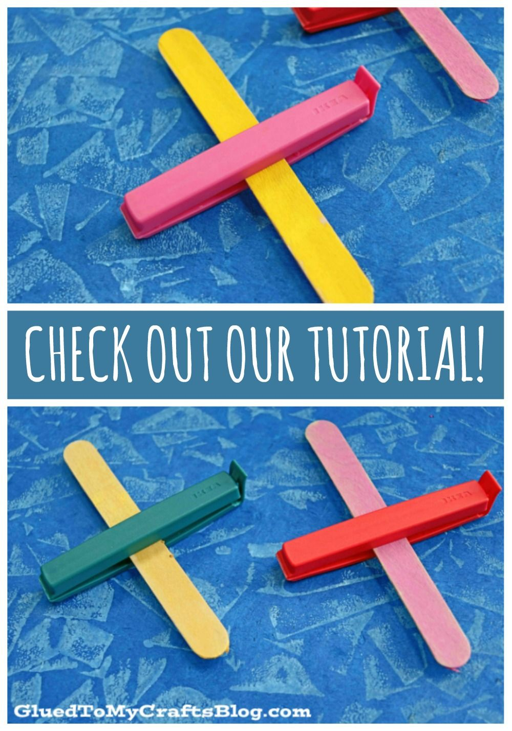 How To Make Chip Clip & Popsicle Stick Airplanes Kid