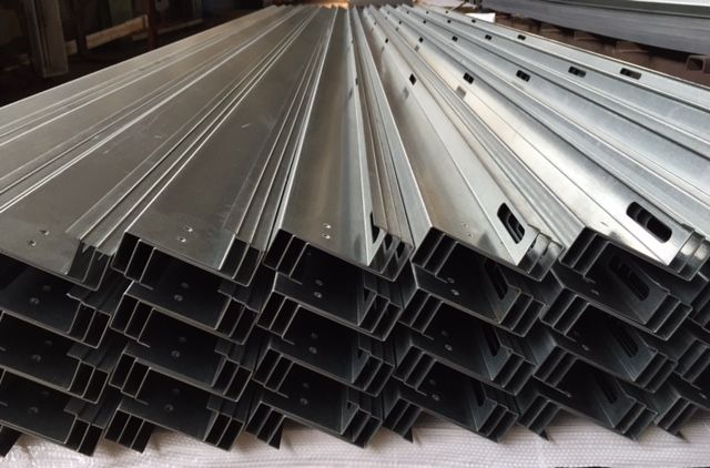 Accurate Forming At Steeltec Products 16 Gauge Galvanized Rails X 16 Long Expanded Metal Metal Forming Galvanized