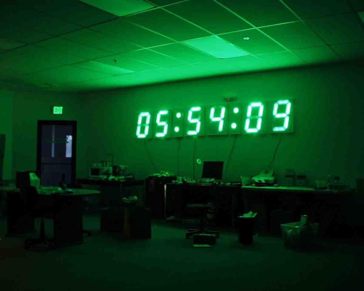 giant digital wall clock