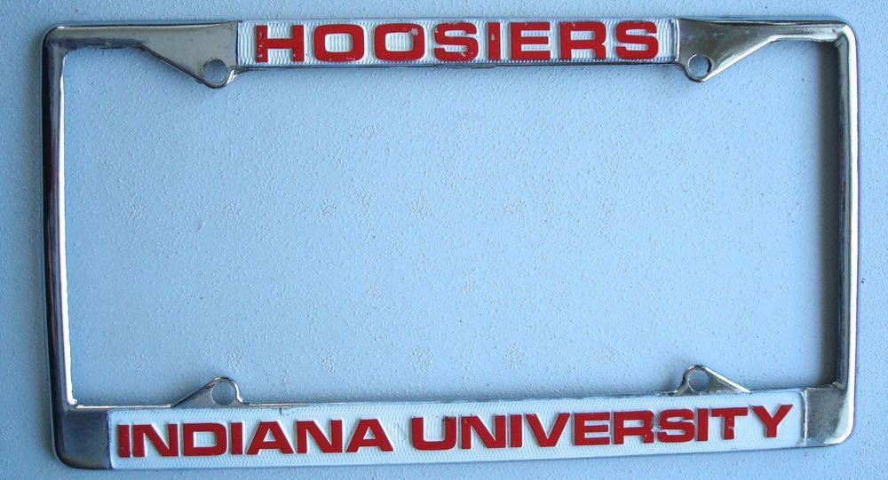 License Plate Frame Hoosiers Indiana University Sports Football ...