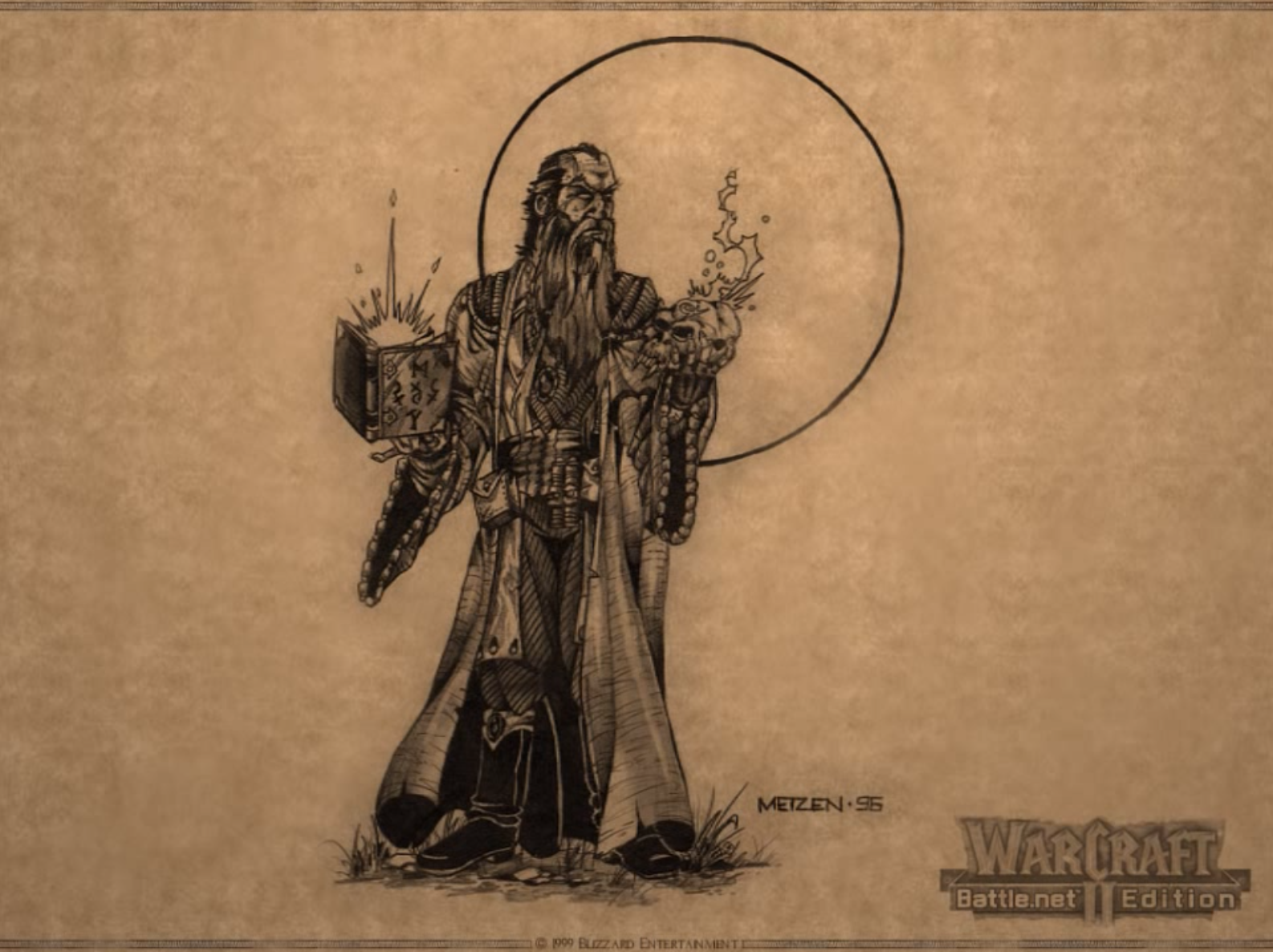 Warcraft 2 Artwork Looks Like A Human Mage Fizzling With The Fel