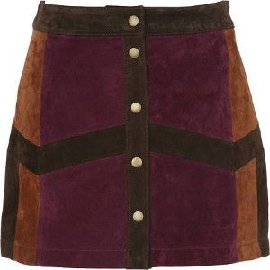 Patchwork Suede Skirt, a familiar sighting in the 70's.