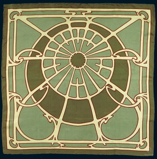 georges fouquet ceiling motif scarf art nouveau. Black Bedroom Furniture Sets. Home Design Ideas