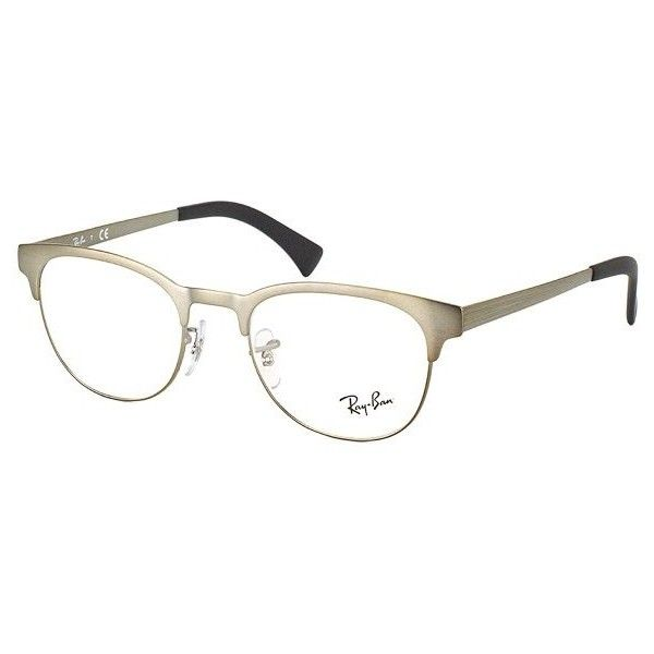 2613ab67d0 Ray-Ban Ray Ban RX6317 2834 Round Metal Clubmaster Glasses ( 120) ❤ liked  on Polyvore featuring accessories