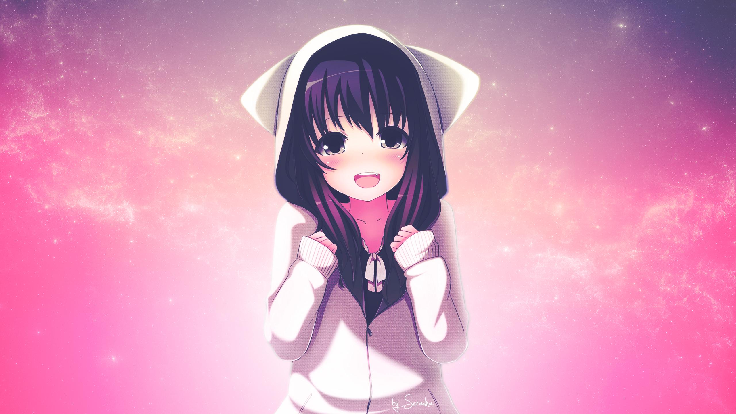 Kawaii Anime images Amuchan pink wallpaper HD wallpaper and
