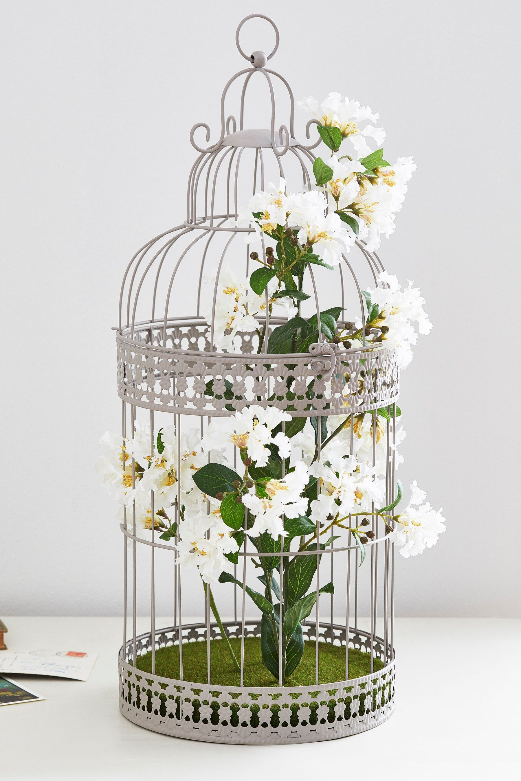 small decorative metal basket birds and flowers china.htm next large floral bird cage grey bird cage  floral  birds  next large floral bird cage grey
