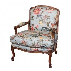 Louis Xv Bergere With Loose Cushion French Arm Chair Armchair