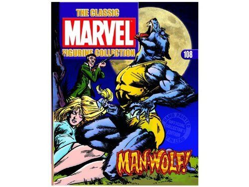 """Magazine #108 Manwolf with Figure by Eaglemoss Publications. $19.99. These fully-authorized, hand-painted lead figurines are sculpted by master craftsmen and based on original pieces of Marvel artwork. Each 3 1/2"""" figurine is individually numbered, comes stamped with the Marvel official logo, and comes packaged in its own box. The accompanying magazine provides a detailed history and background on the featured character, including exclusive images and interviews. The fabulou..."""