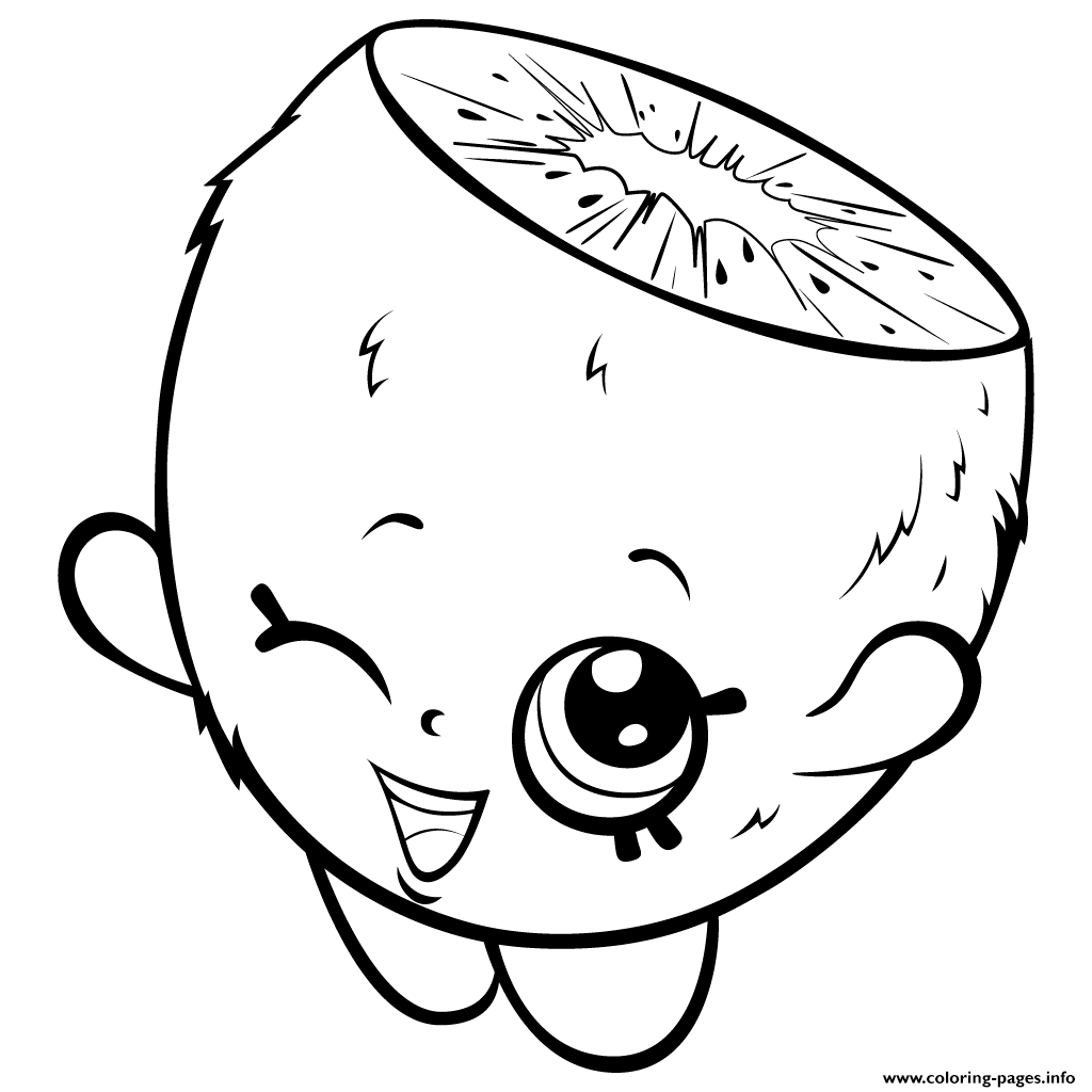 print cute cartoon kiwi to color shopkins season 3 coloring pages