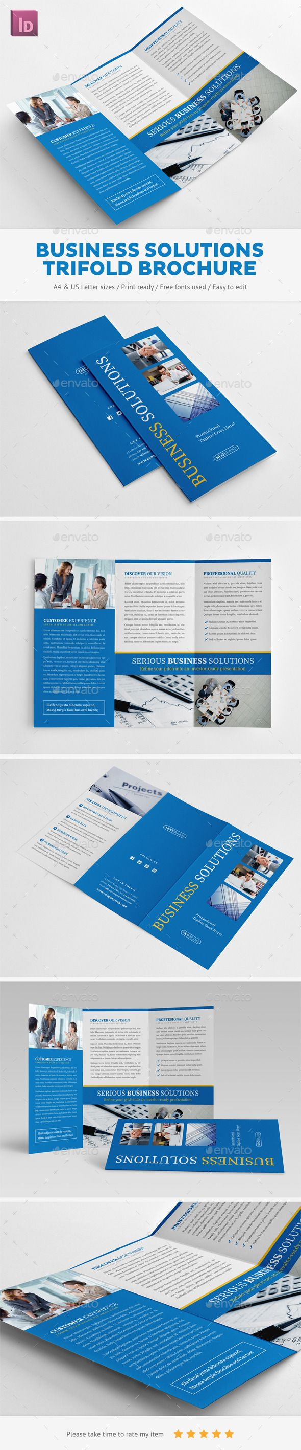 Business Solutions Trifold Brochure  Brochures Corporate