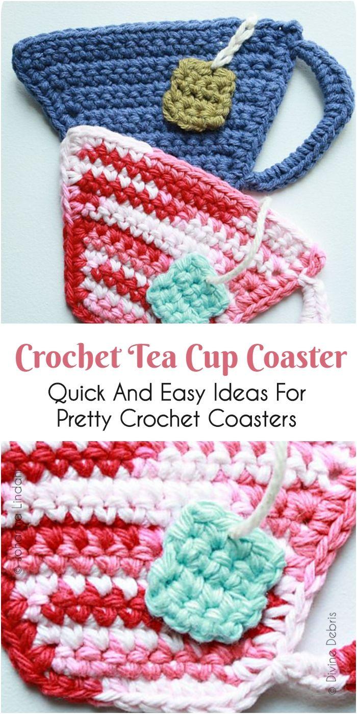 Quick And Easy Ideas For Pretty Crochet Coasters | ganchillo ...
