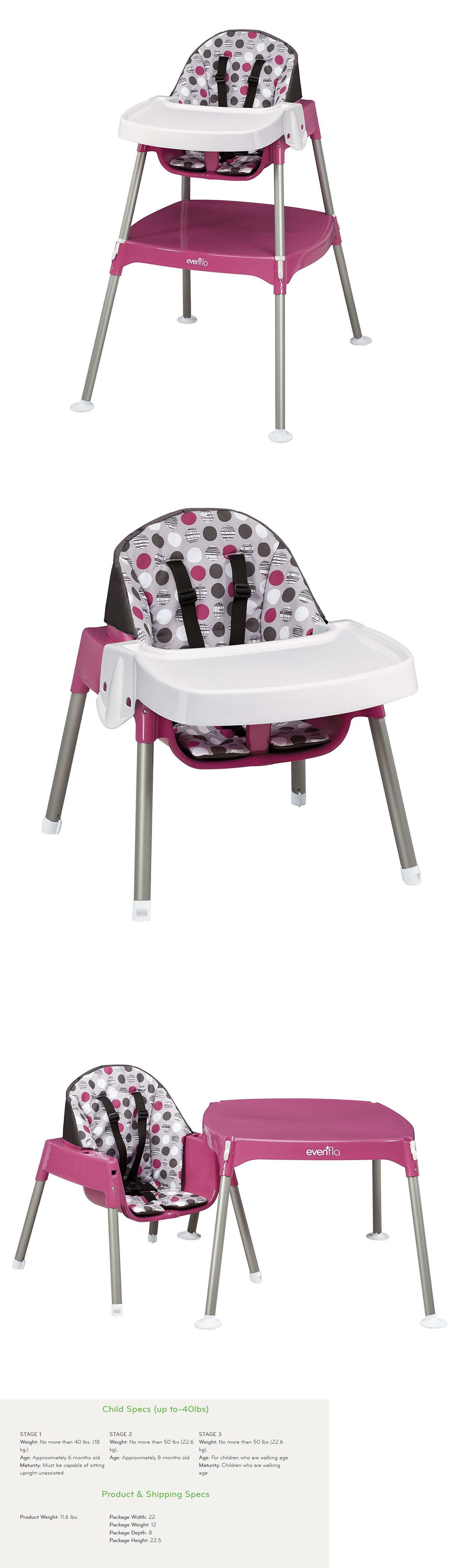 High Chairs 2986 Evenflo Convertible Chair Dottie Rose It Now