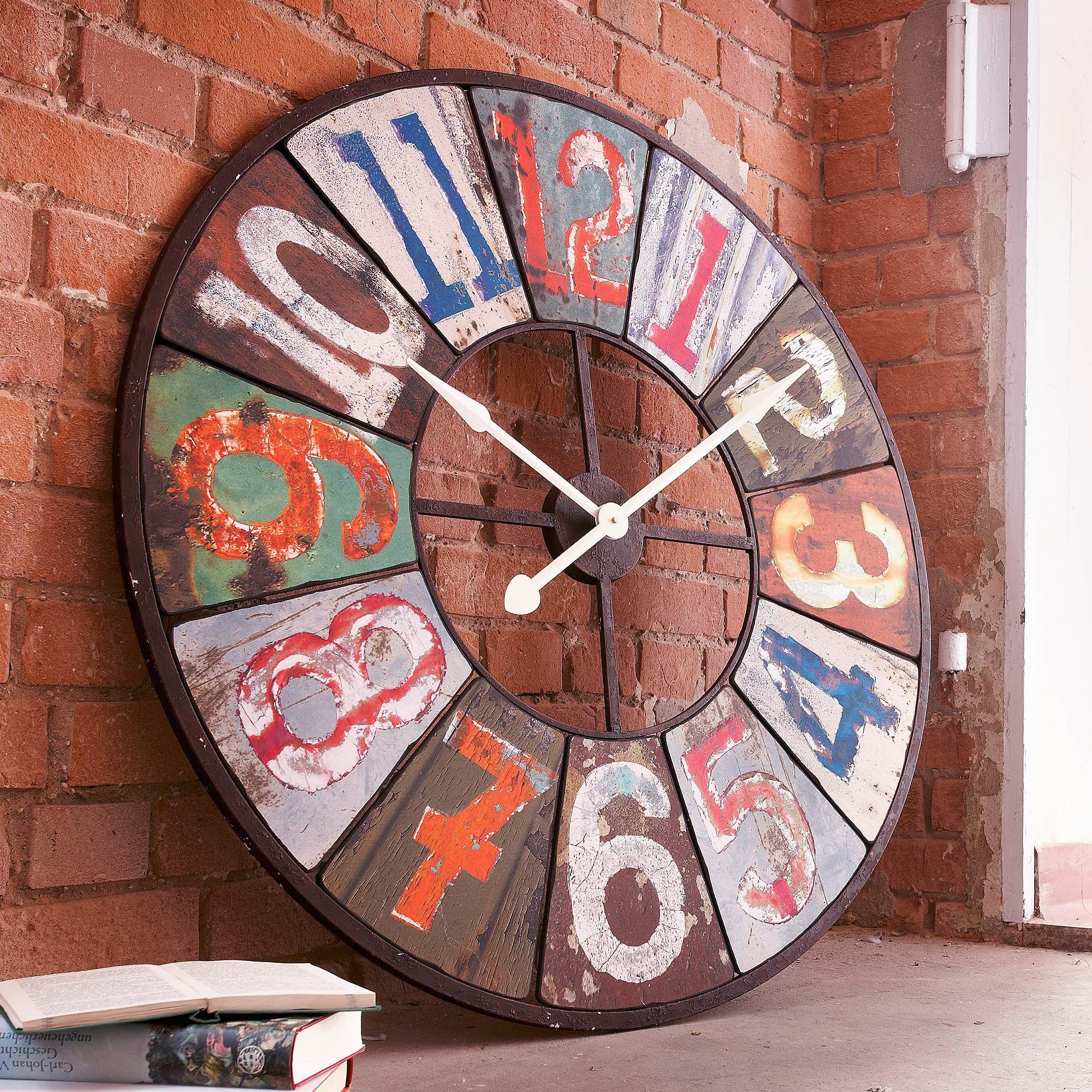 Wanduhr Colours Gingar Uhr Deko Wanduhren Uhren Wände