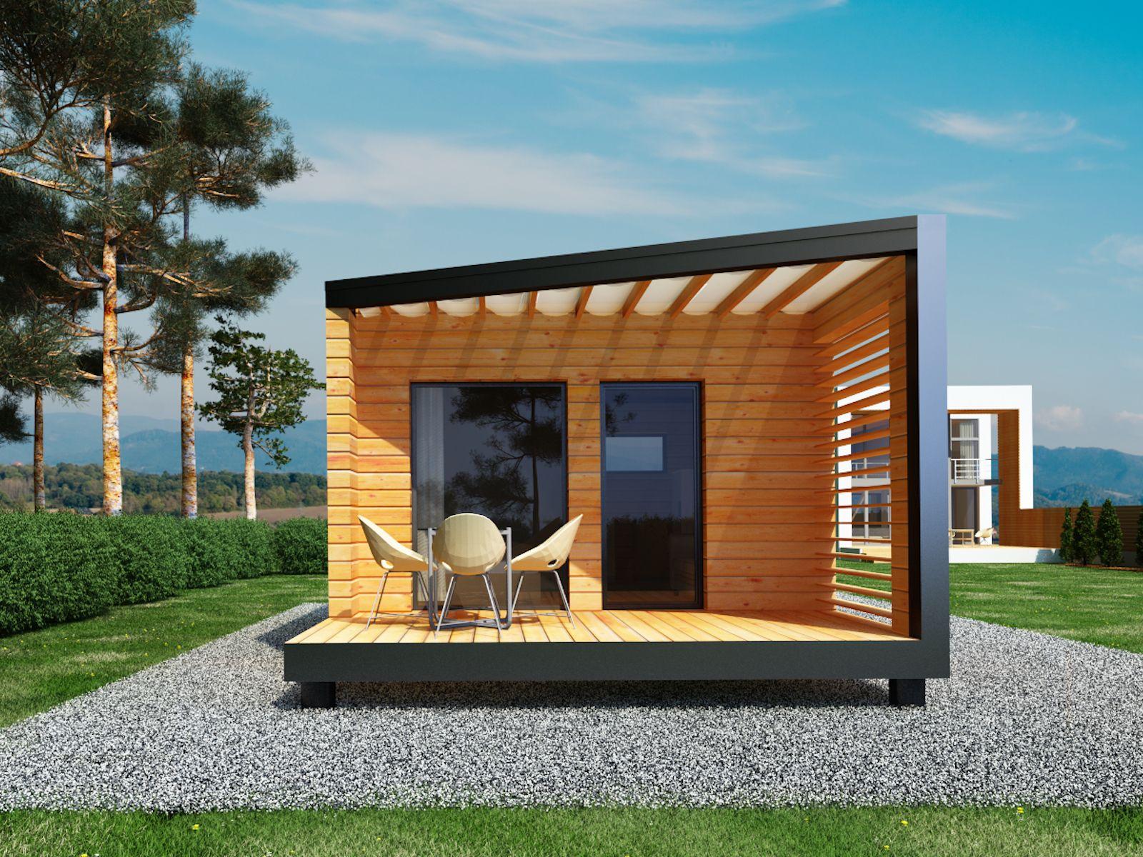 Studio De Jardin En Bois 20m2 Terrasse Bois 9m2 Studio 20 Studio De Jardin Design Petite Maison Jardins En Bois