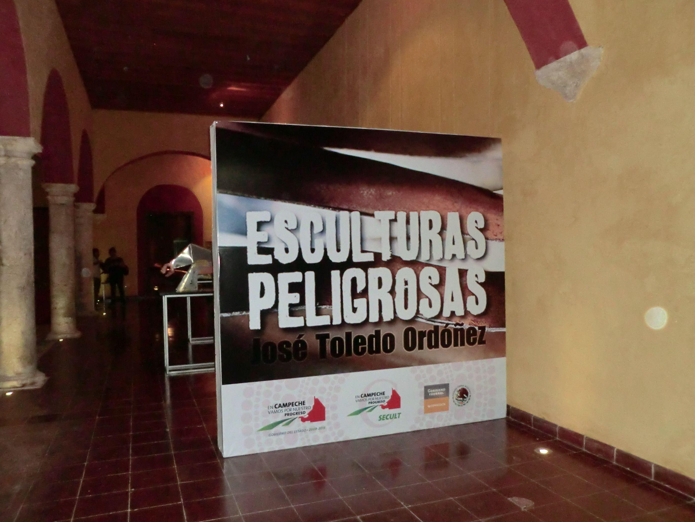 Esculturas Peligrosas por Pepo Toledo en el Claustro de la secretaría de cultura de Campeche. #PepoToledoArt