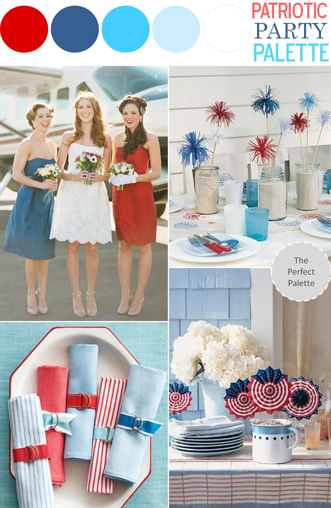 Patriotic Party Palette Patriotic party, Wedding colors