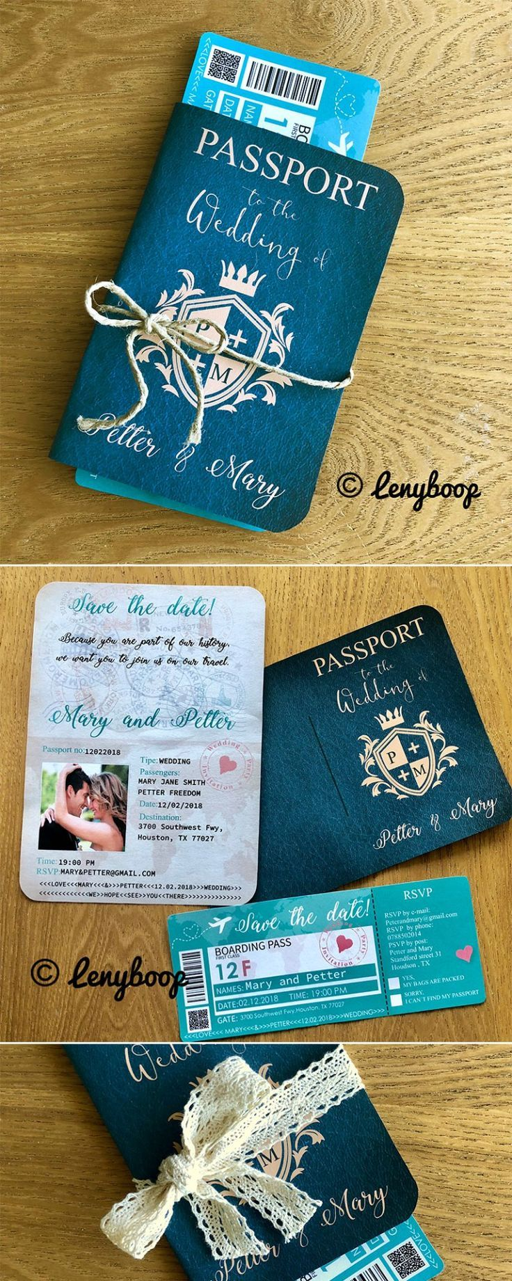 42 Best of Travel Hochzeitseinladungen – Hochzeitspass   Forevermorebling   … - Zur Hochzeit #ceremonyideas