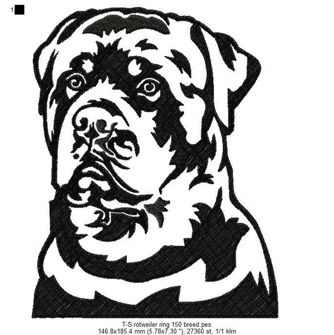 Rottweiler 1 Dog Stencil Wood Burning Stencils Wood