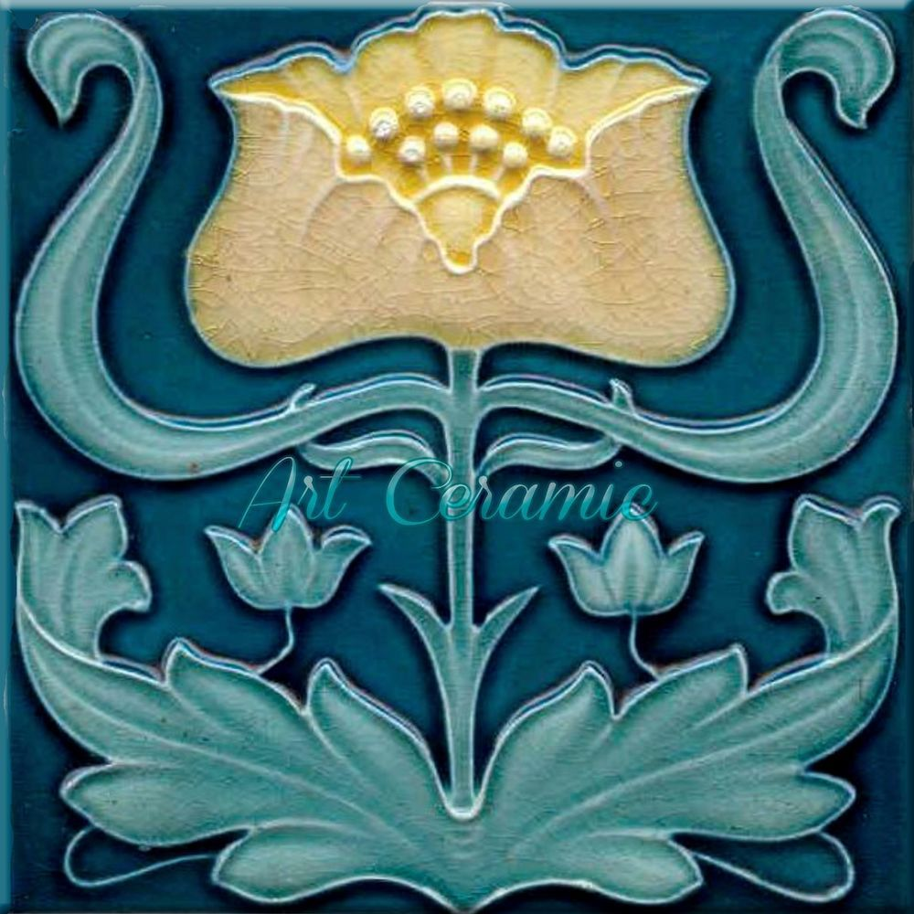 Art nouveau reproduction decorative ceramic tile 281 ceramic wall art nouveau ceramic tile reproduction this list is for 1 ceramic wall tile the dailygadgetfo Choice Image