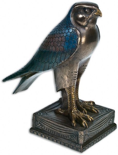 Horus Statue in highly polished bronze resin, hand painted ...
