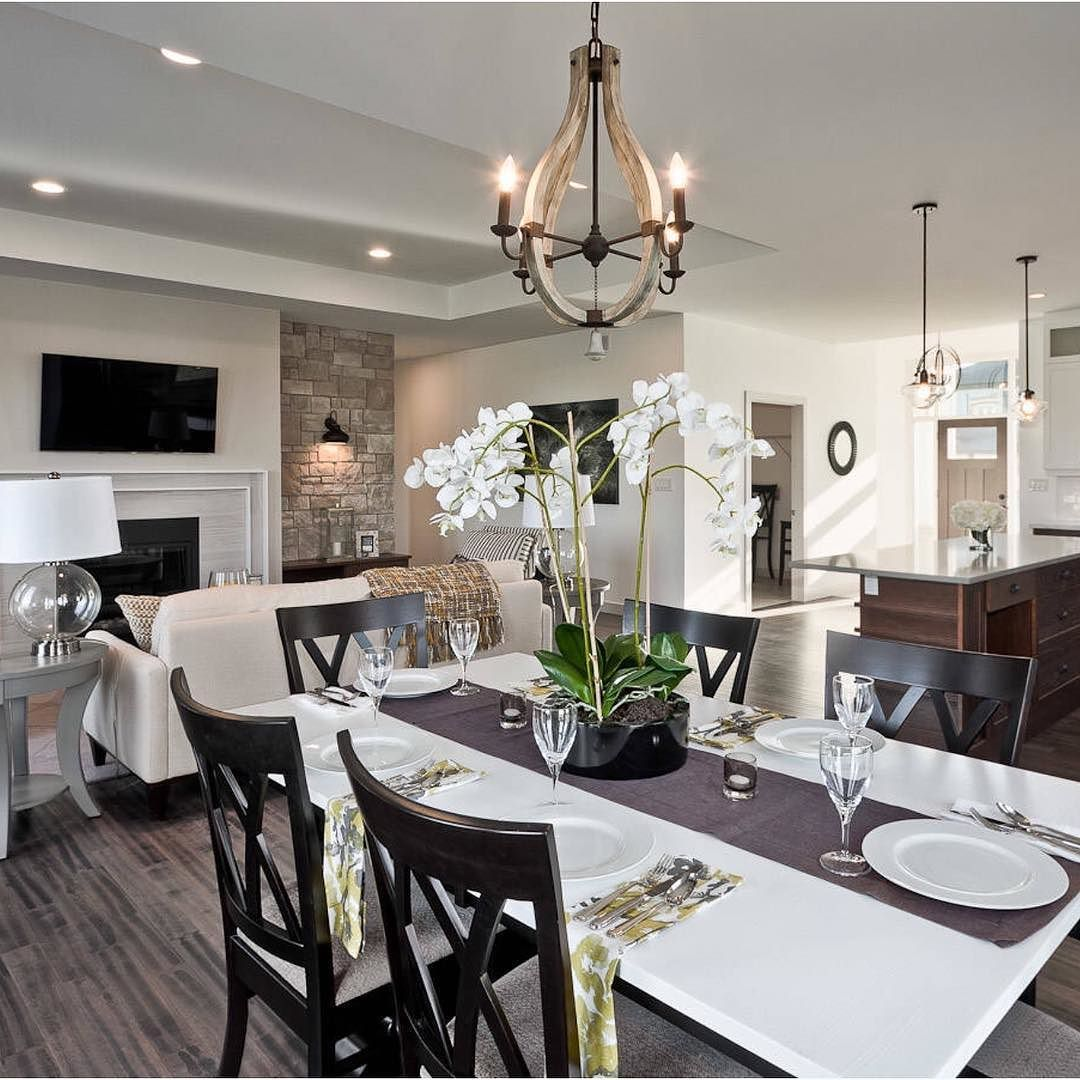 Loving this open concept layout by Dowalt Custom Homes - Home Decor is the best.
