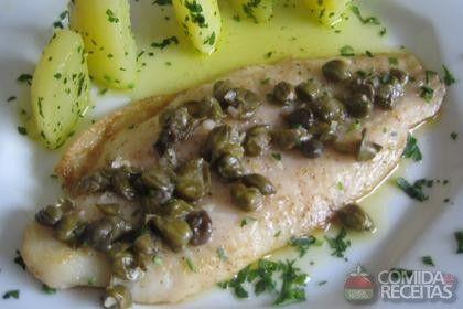 Receita de Tilápia ao molho de alcaparras em receitas de peixes, veja essa e outras receitas aqui!