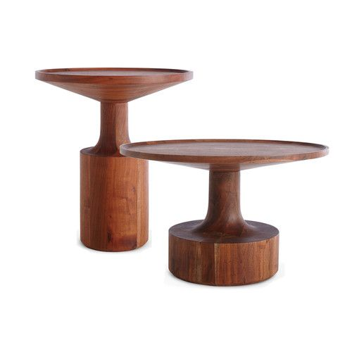 Turn Solid Wood Pedestal Coffee Table Pedestal Coffee Table Tall Side Table Side Table