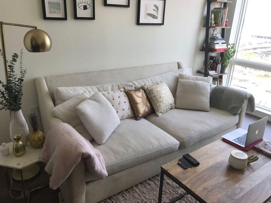 crate and barrel verano sofa big leather for sale on letgo com living room