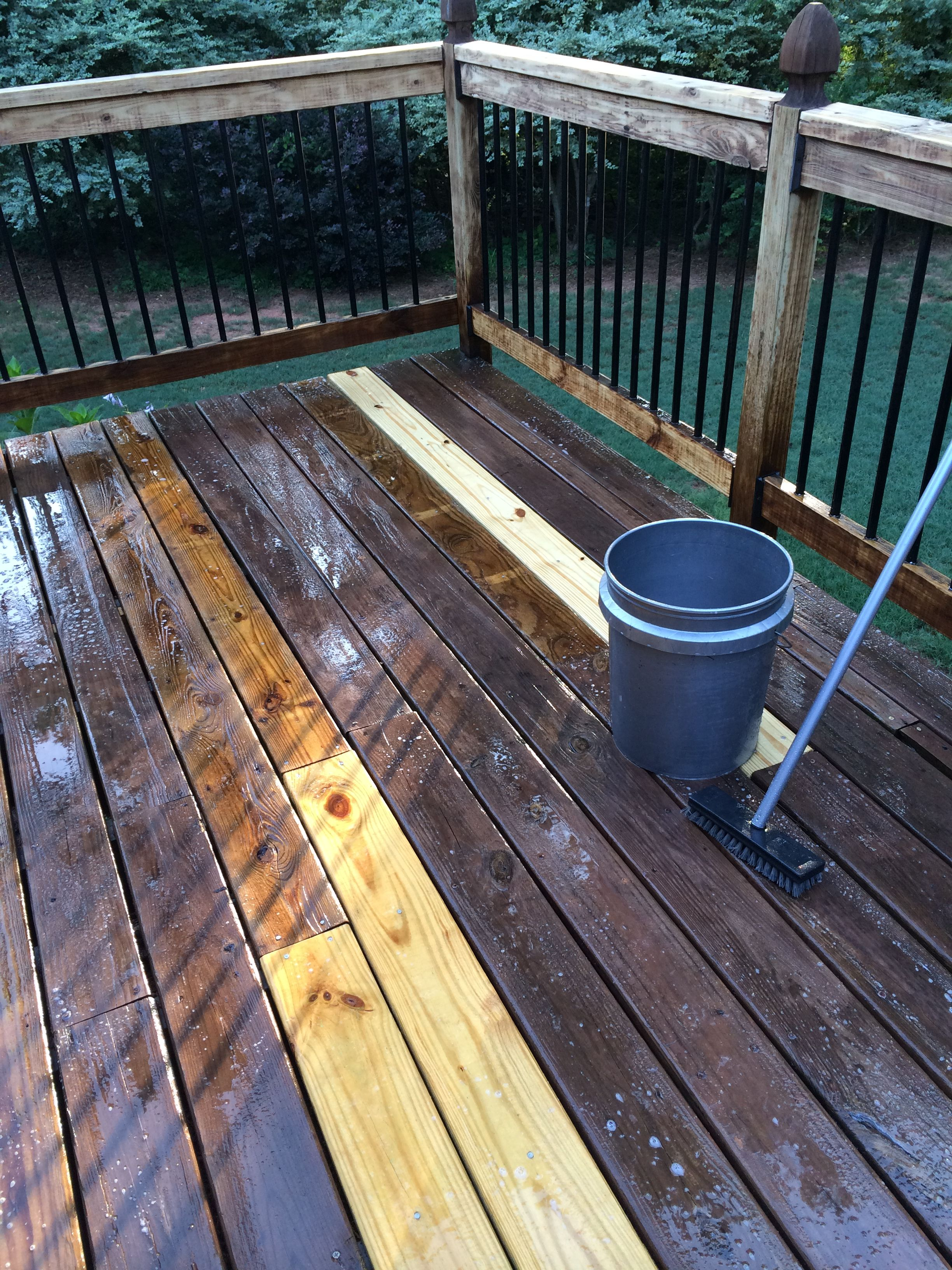 How To Restain A Deck Properly Staining Deck Deck Building A Deck