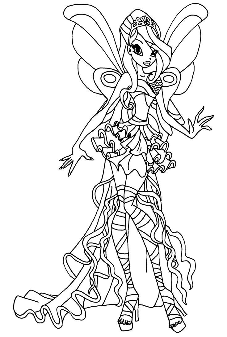 Winx Club Cartoon Coloring Pages Hello Kitty Colouring Pages