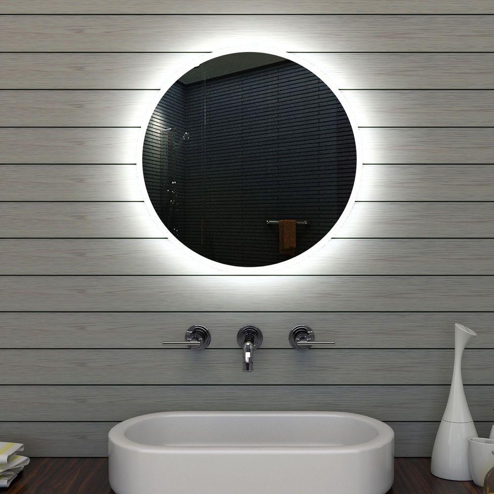 Badezimmerspiegel Badspiegel Wandspiegel Led Beleuchtung Rund 60cm Mle6602 In Mobel Wohnen Badzubehor Textilien Badezimmerspiegel Badspiegel Wc Spiegel