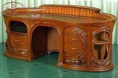 Bureau art nouveau | Art Nouveau | Pinterest | Bureaus, Art deco and ...