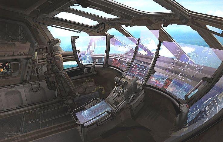 Spaceship Cockpit View Screens By Ryan Church Spaceship