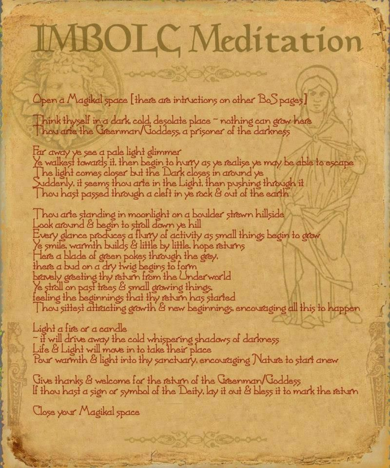 Imbolc Meditation