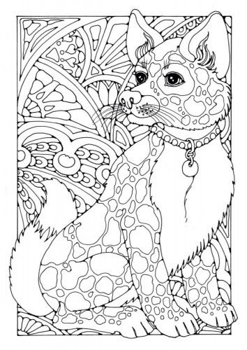 coloring page see more chien