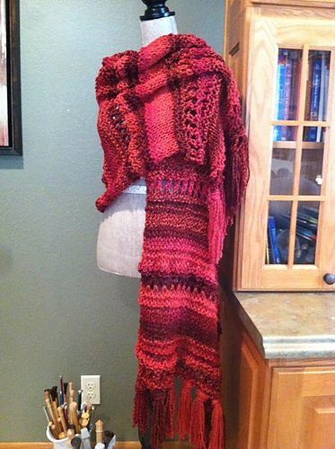 Free Pattern: Roman Stripe/Stockinette/Garter Stitch Shawl pattern ...