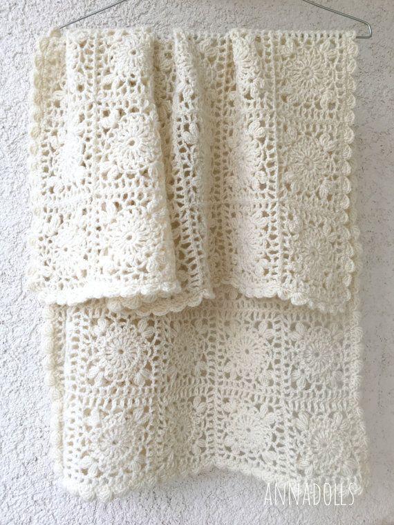 Handmade Crochet Throw Crochet Afghan Crochet Throw