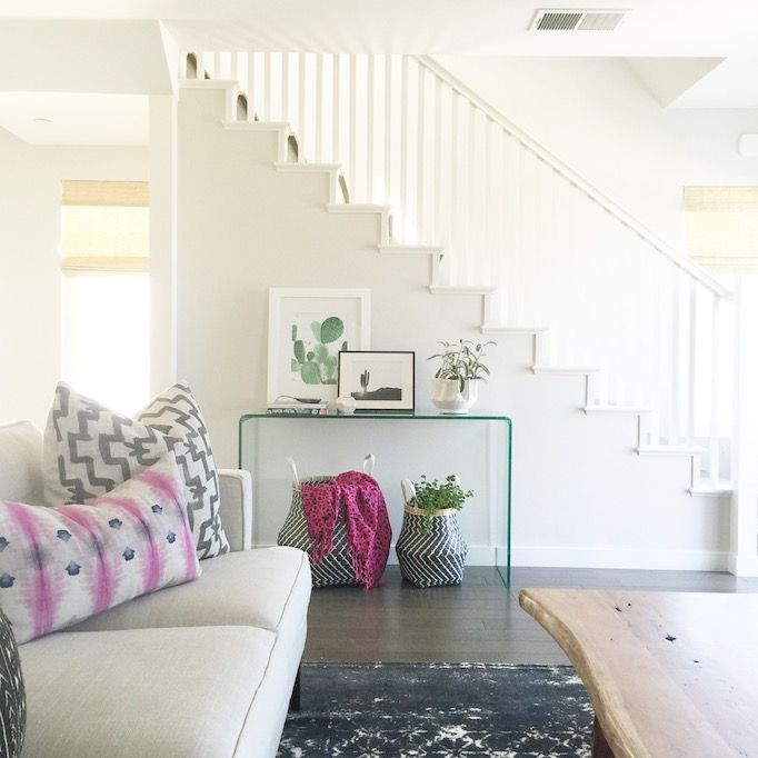 How to Style with Baskets Console tables Consoles and Living rooms